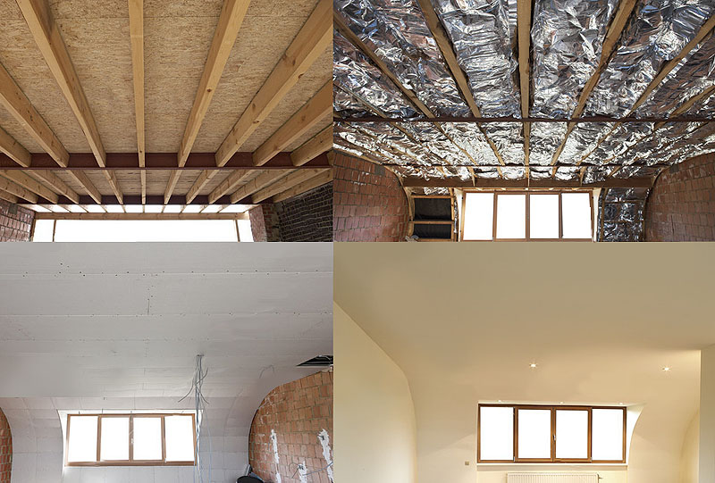 Suspended ceilings with thermal insulation purpose